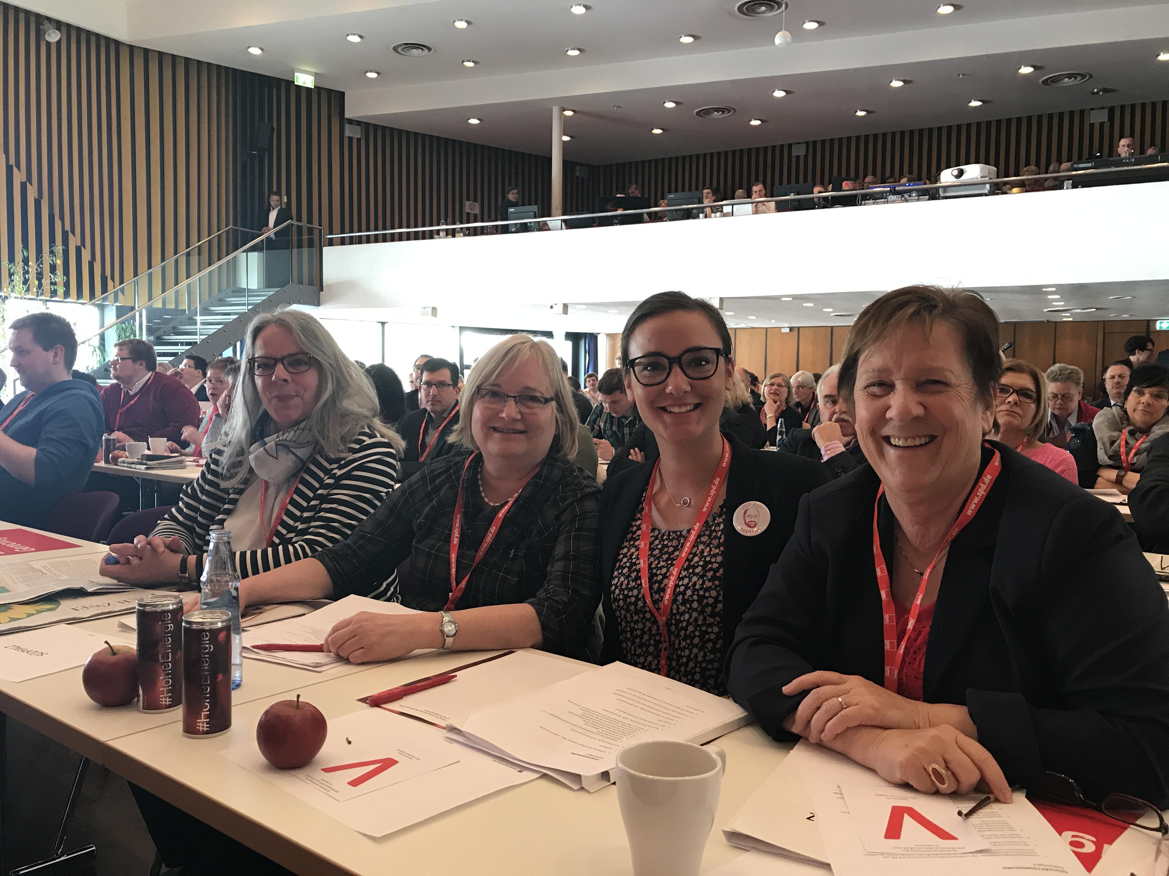 v.l.n.r. Dagmar Keck-Waldhauser, Ingrid Allbrecht, Carolin Eichhorn und Inge Volz